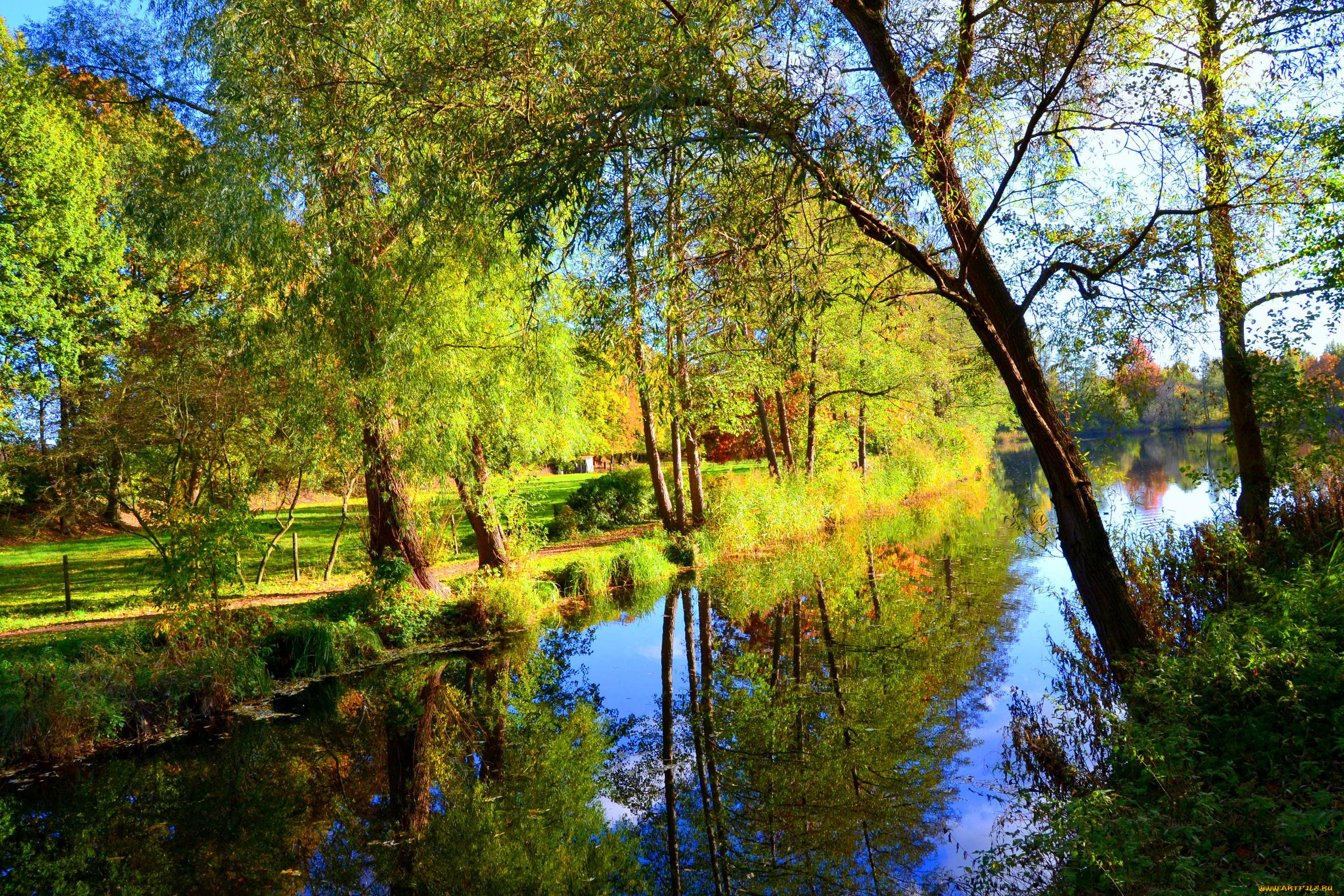 Природа реки озера обои для рабочего